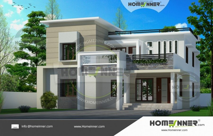 2610 sq ft 4 Bedroom South Indian House Design | Indian house ...