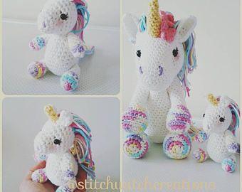 Amigurumi Unicorn : Swc mini lavender unicorn crochet pattern swc minis collection