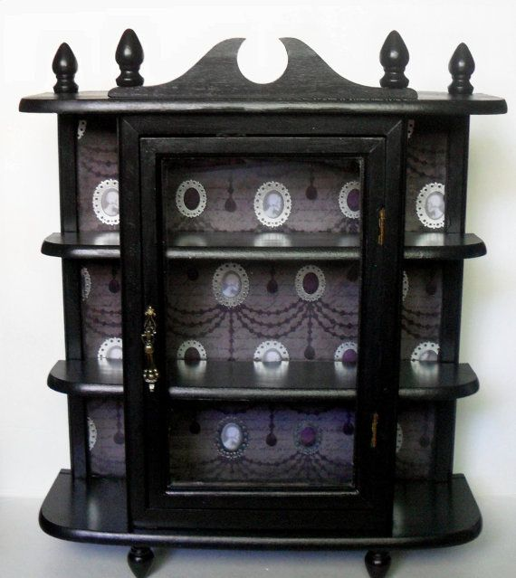 Gothic Curio Cabinet Home Decor Wall By Nacreousalchemy 65 00 I Could Totally Make This
