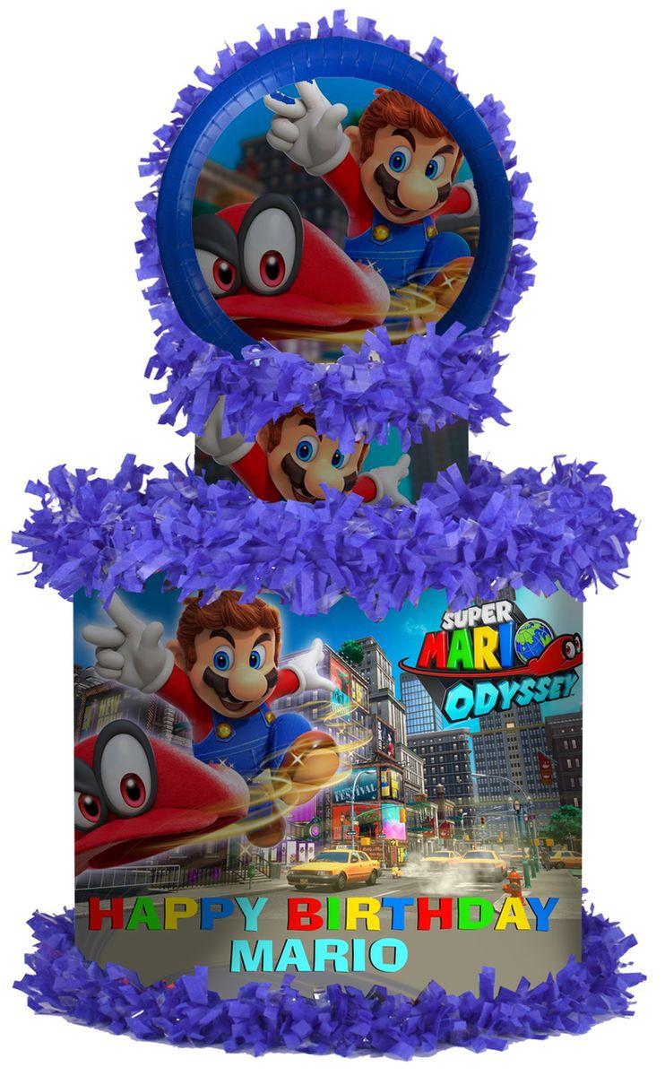 Super Mario Odyssey Large Personalized Pinata Super Mario Pinata Mario