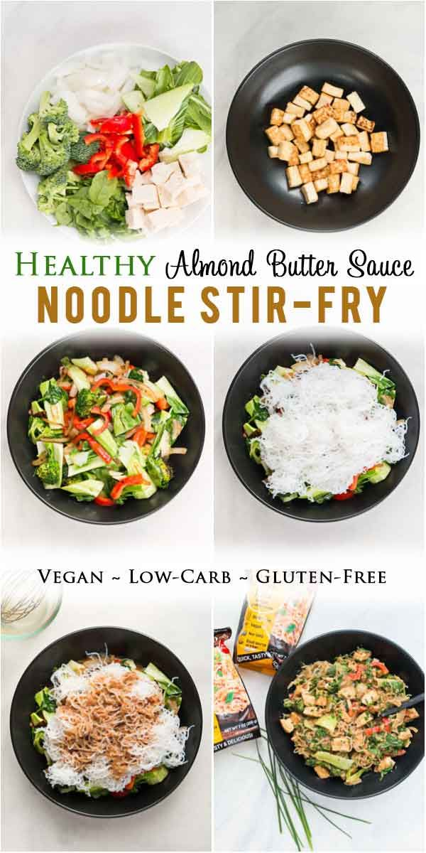 Healthy Almond Butter Noodle Stir Fry With Tofu Low Carb