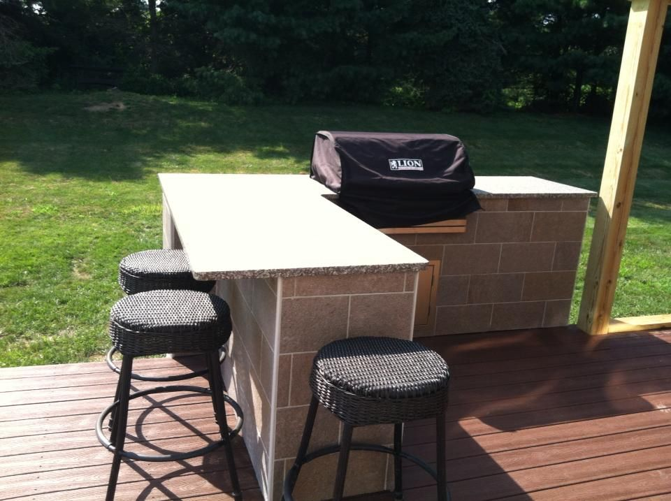 Deck Construction: phase 1 of our deck. The outdoor grill ... on Patio With Grill Area id=67948