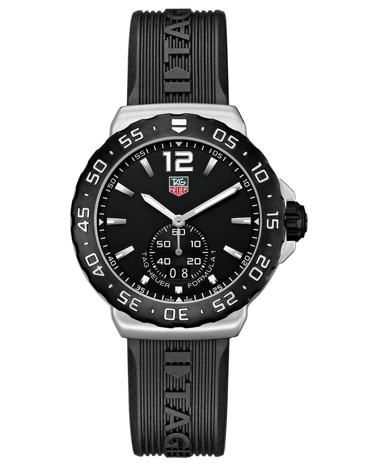 56b87b99bdf4 TAG Heuer Men s Swiss Formula 1 Black Rubber Strap Watch 42mm  WAU1110.FT6024 - TAG Heuer - Jewelry   Watches - Macy s