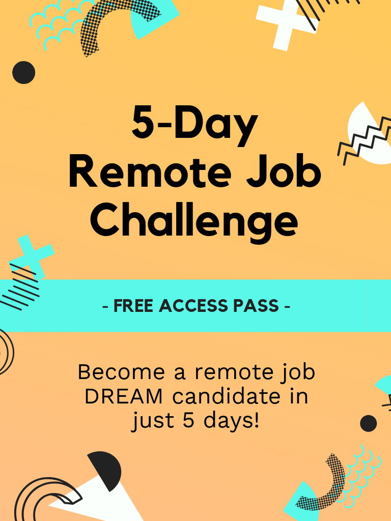 Join me in this FREE 5day Remote Job Challenge (normally