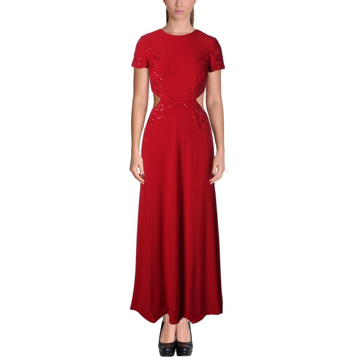Avery g womens embelished cutout evening dress products