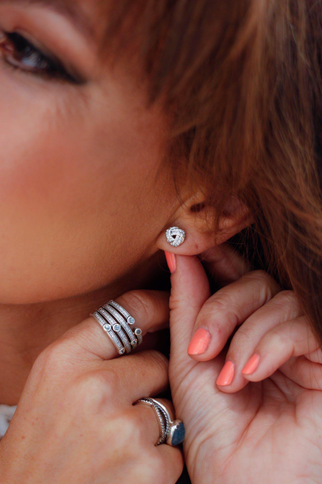 b848f0d53 Love Knot Earrings - PANDORA | Earrings | Pandora earrings, Pandora ...