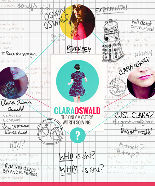 Clara Oswald: The Only Mystery Worth Solving via River Songs Melody on Tumblr