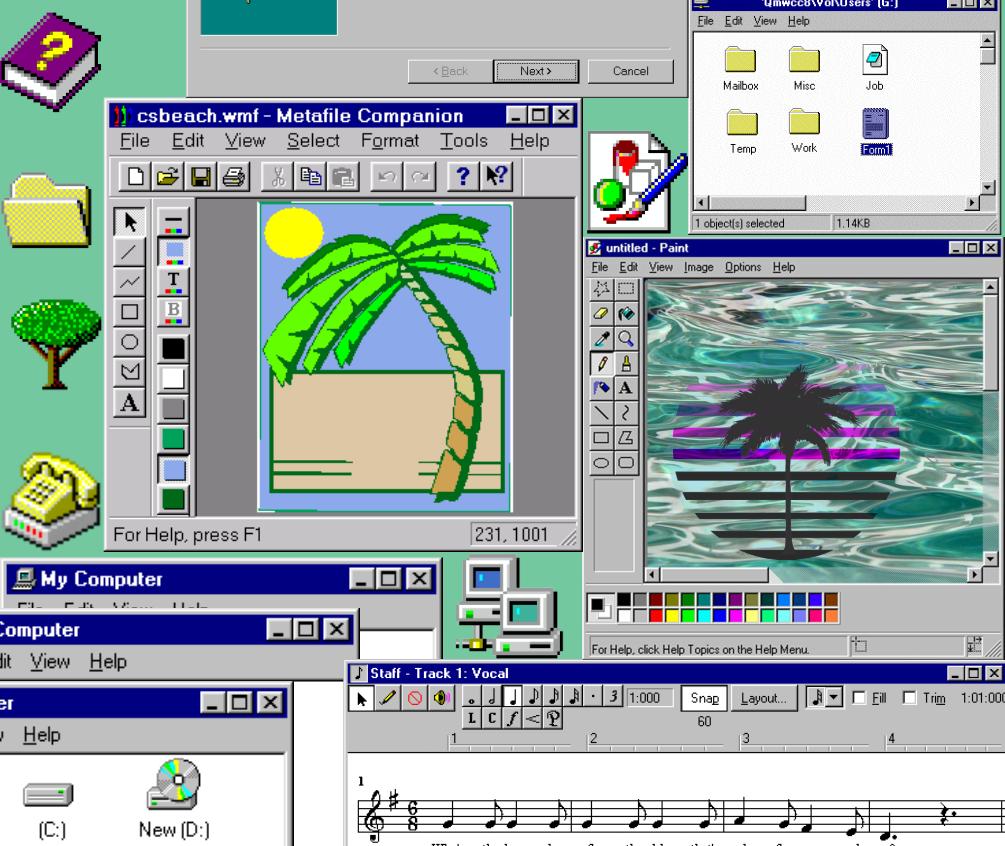 Aesthetic windows 95 Vaporwave wallpaper