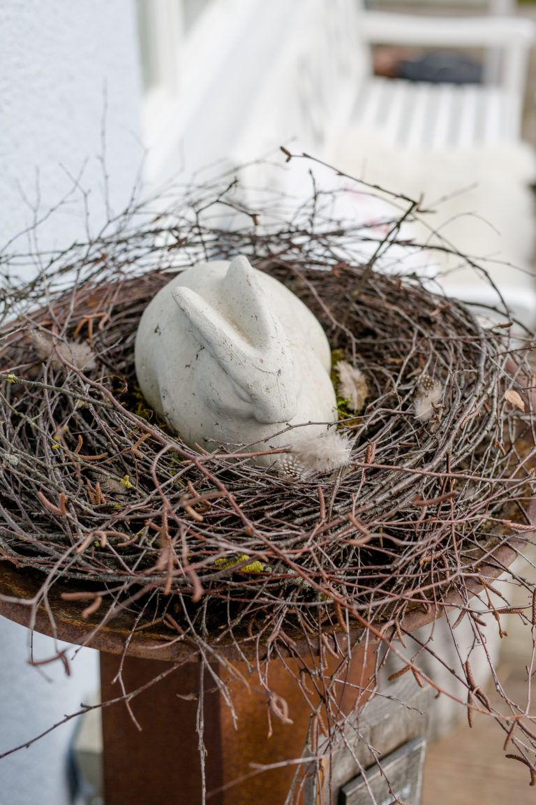 Photo of Spring arrangement, Easter decoration homemade • Pomponetti