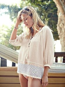 Crochet-trim Top