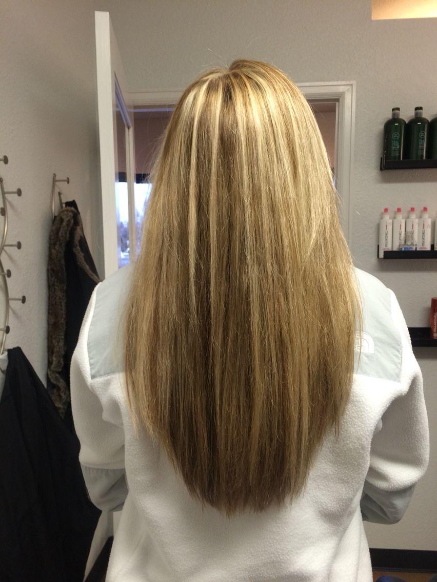 haircut. u shaped hair