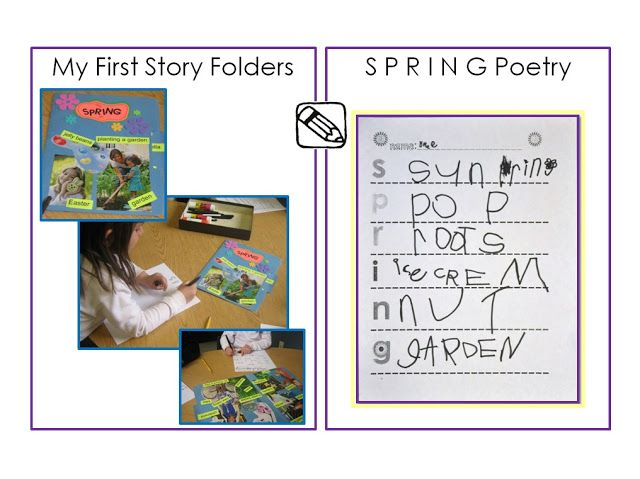 My First Story Folders  Spring Poetry