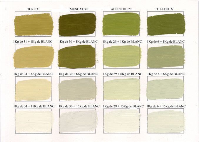 emery cie peintures peinture mate couleurs degrades page 05 tilleul 6 colors. Black Bedroom Furniture Sets. Home Design Ideas