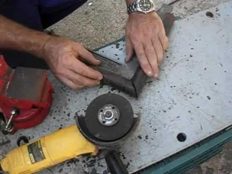 C mo cortar tubo redondo en inglete a 45 con amoladora o for Cortar madera con radial