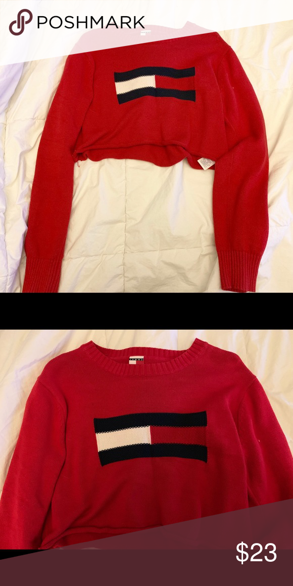 a8c9e7655830b0 Tommy Jeans Cropped Sweater Tommy Jeans Cropped Sweater. Size XL in kids