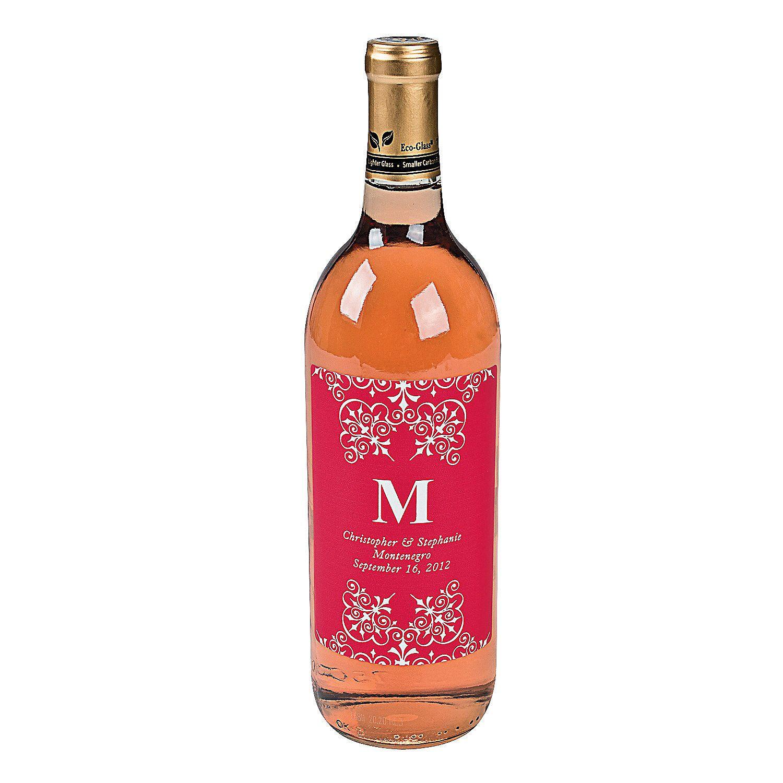 Oriental Trading Wine Bottle Labels Wedding Monogrammed Wine Bottles Wine Bottle Labels