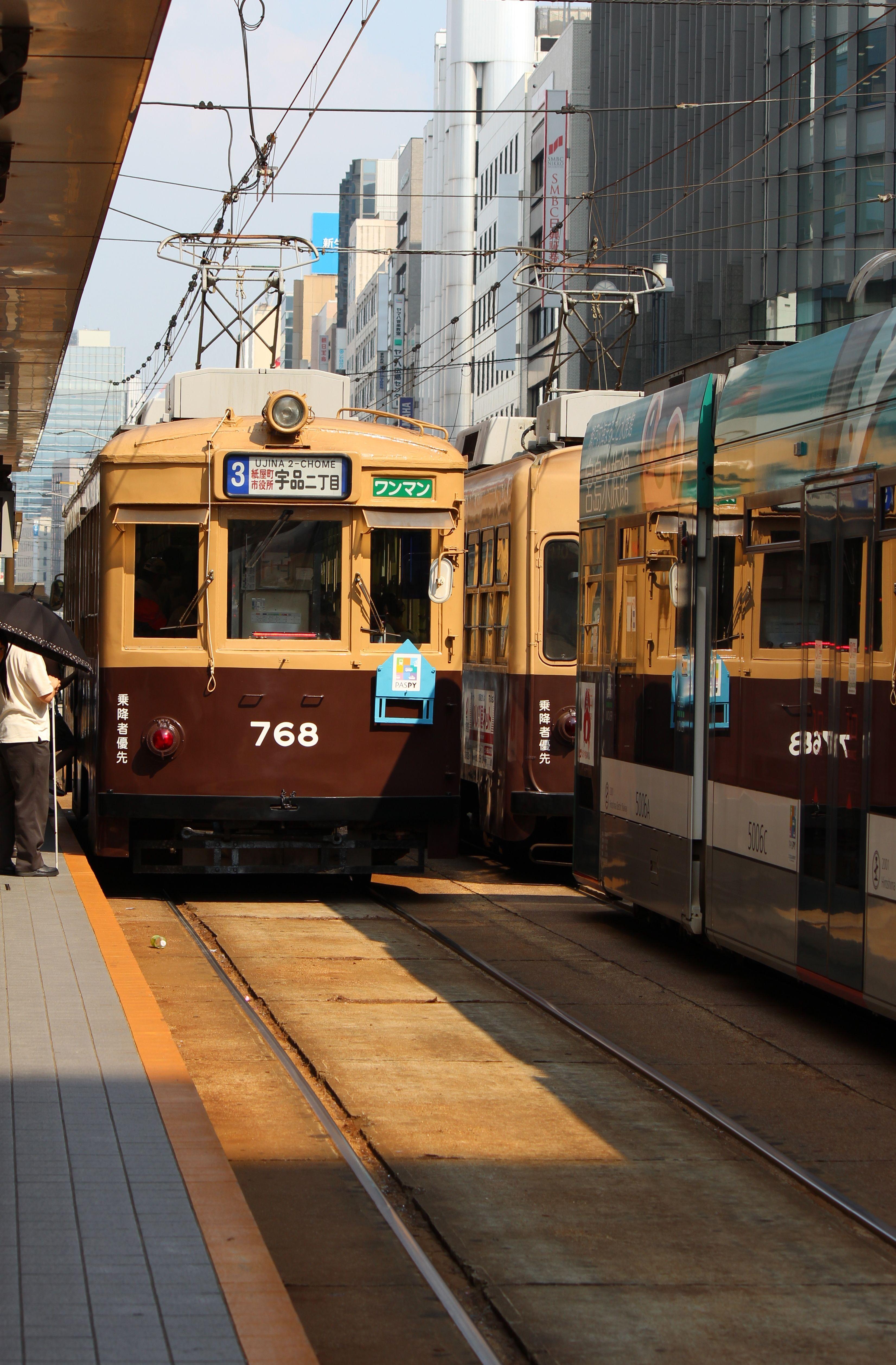 路面電車。750形。大阪市電から譲渡。