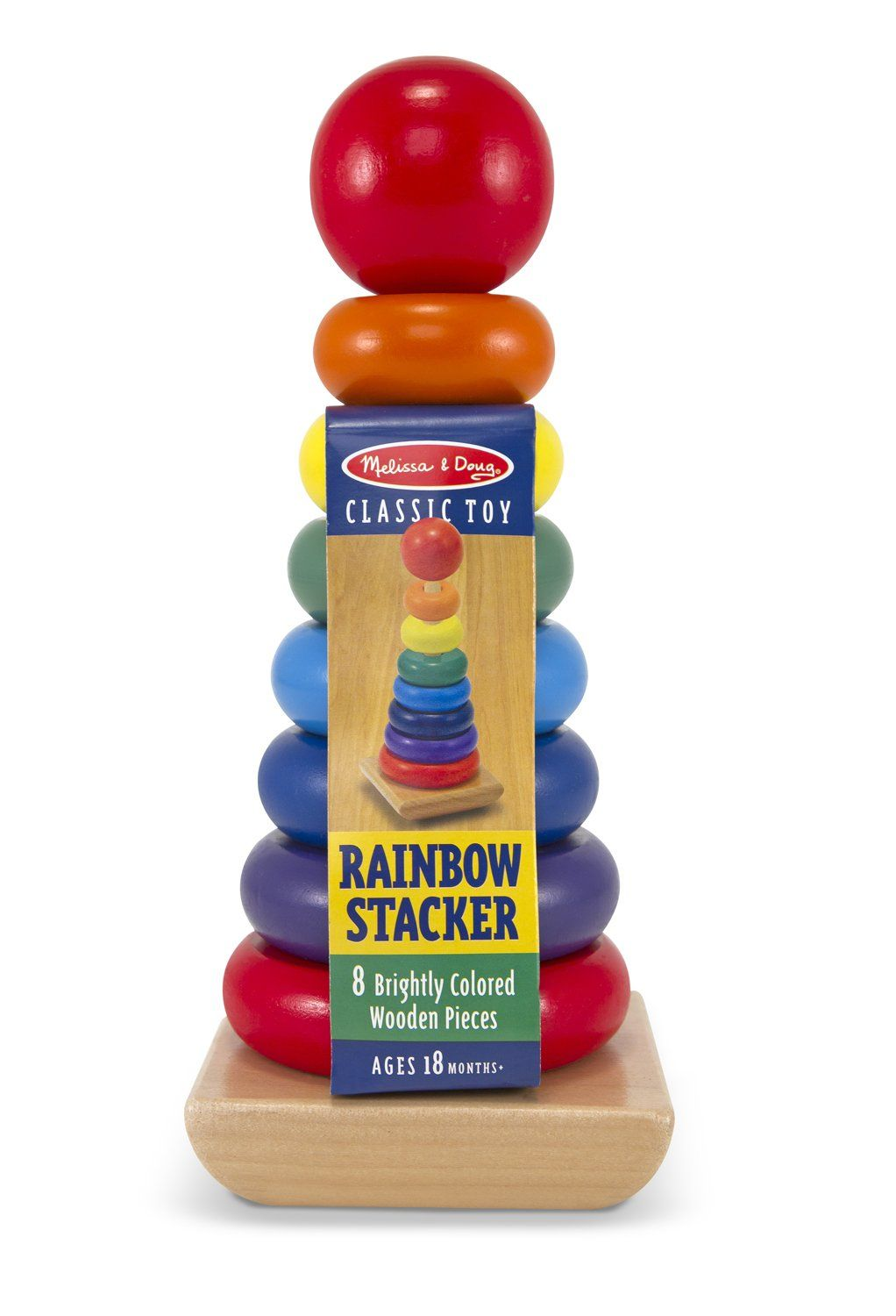 Amazon.com: Melissa & Doug Rainbow Stacker: Toys & Games ...