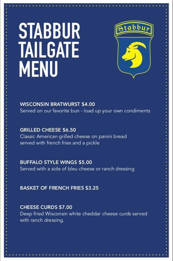 Serving Our Tailgate Menu Every Saturday And Sunday Fall  From