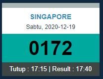 Hasil Togel Singapore Sgp 1kcasino Hari Ini Sabtu 19 12 2020 Singapore