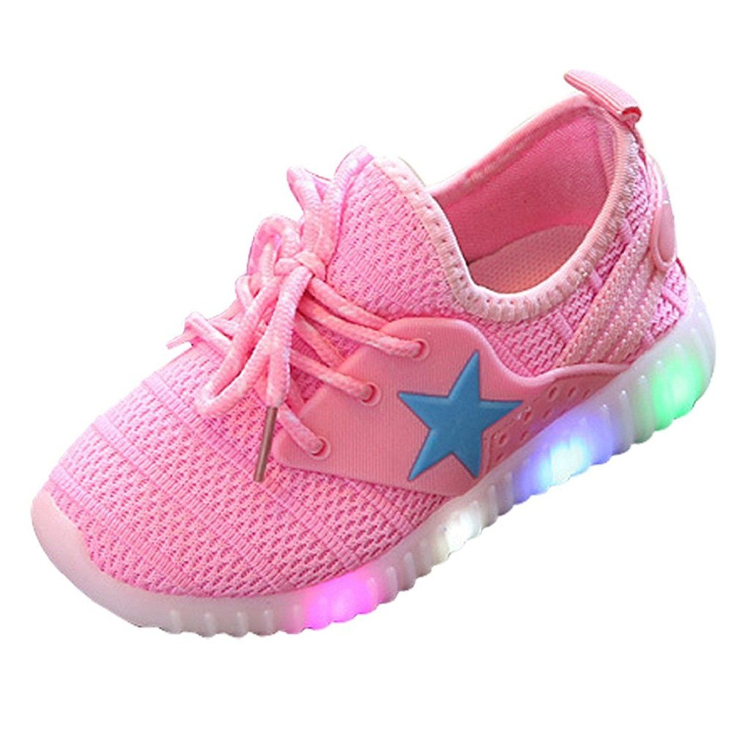 Appoi Baby Shoes Light Toddler Baby Boy Girl Sneakers Star Luminous