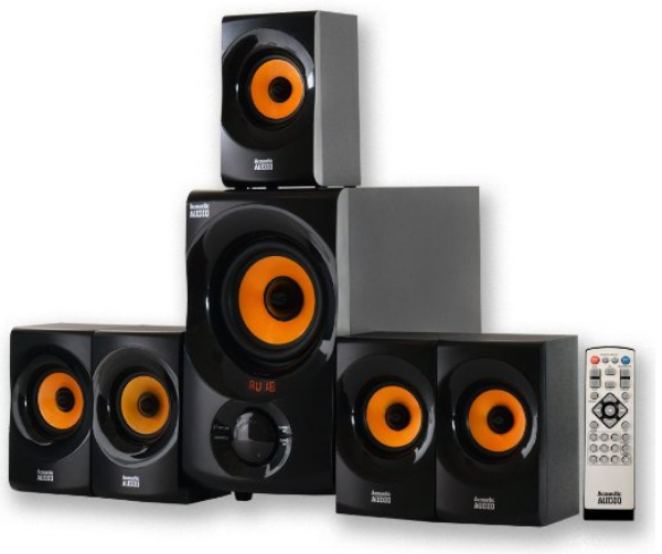 5aecd109a5a Acoustic Audio AA5170 Home Theater 5.1 Bluetooth Speaker System 700W with  Powered Sub