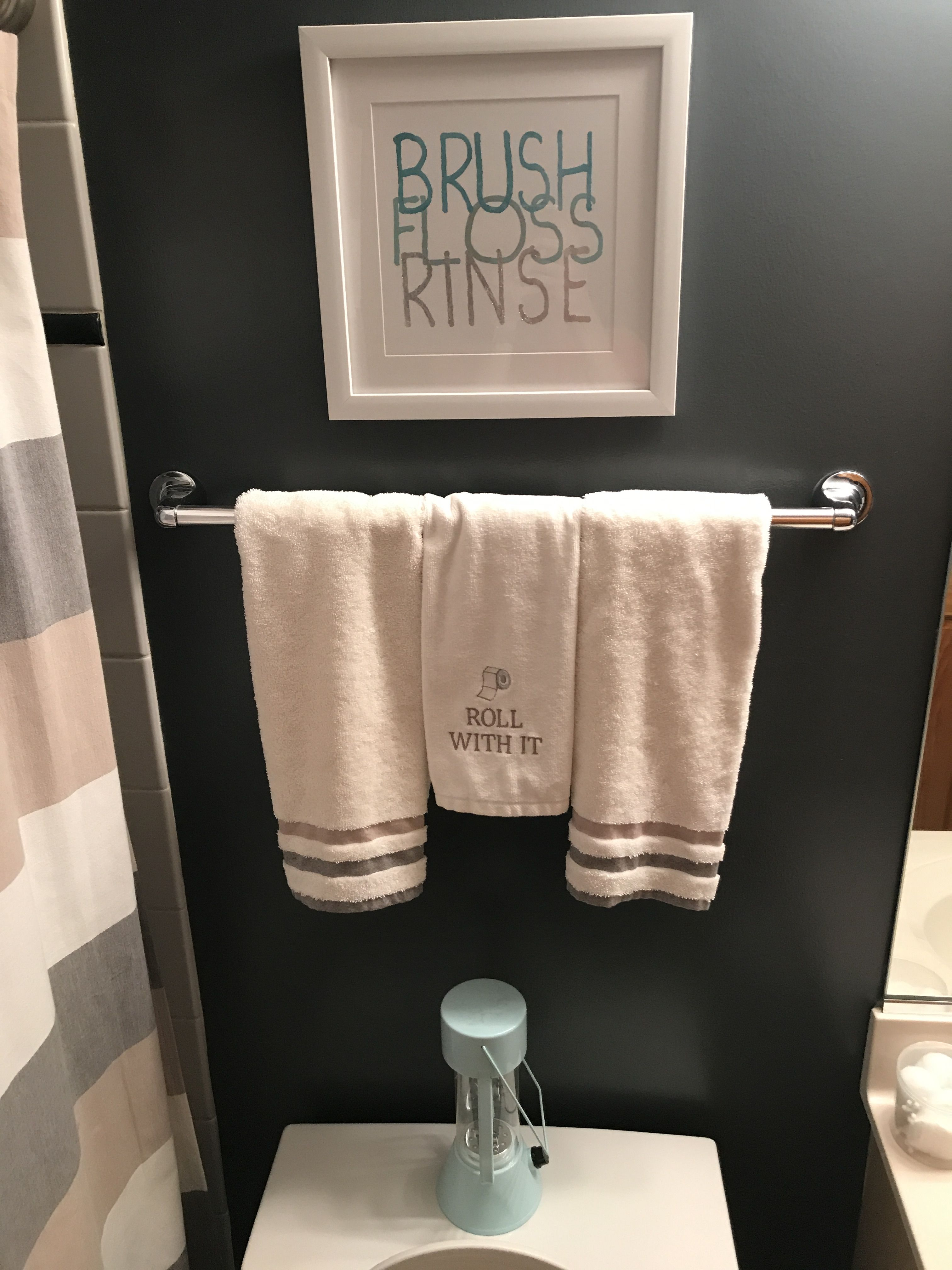 Our Guest Bathroom Sign Hobby Lobby Towels And Shower Curtain Dillards Bed Bath Beyond Lantern IKEA