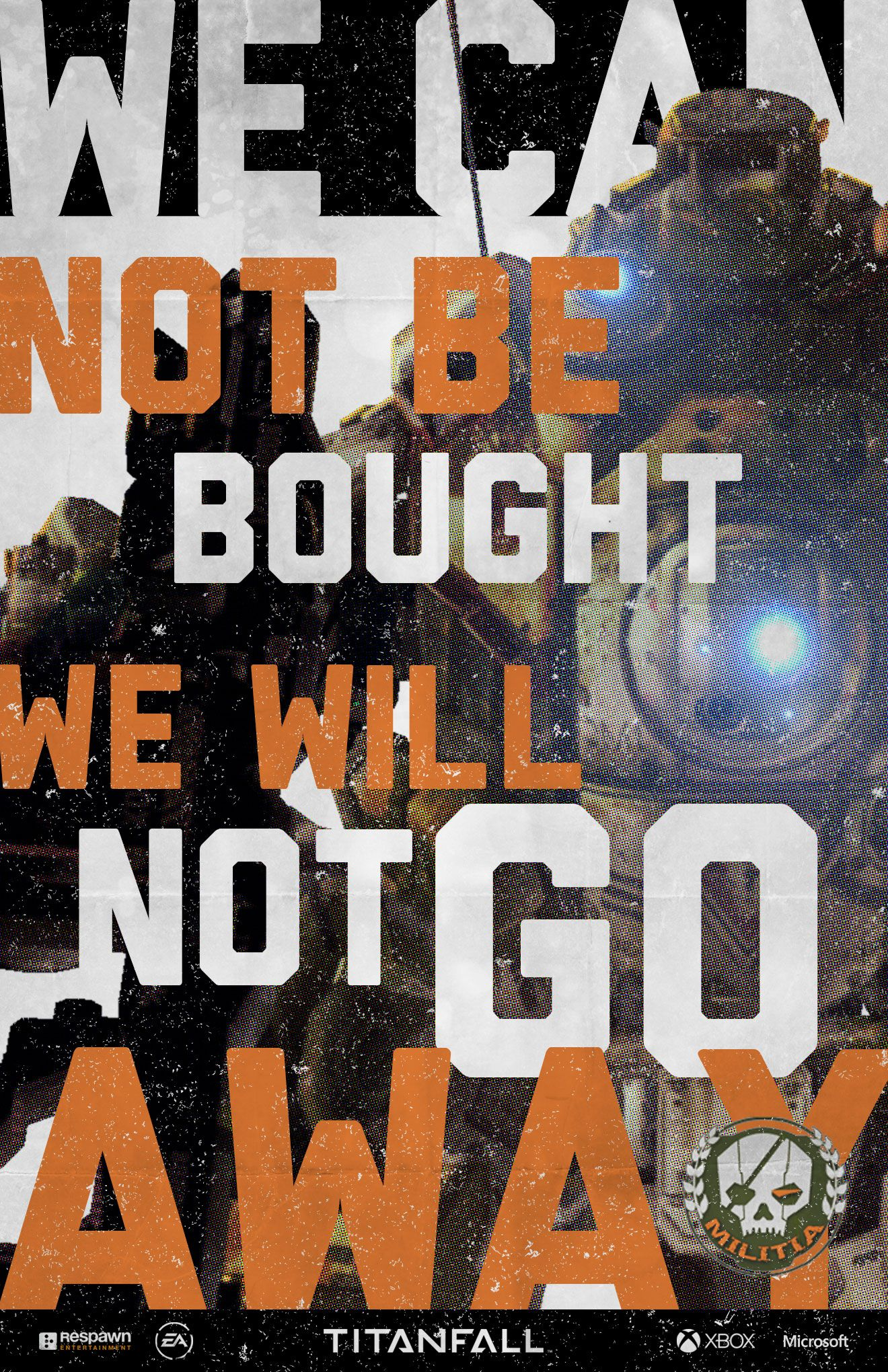 I'm recruiting my friends to Titanfall. You can too. Make your own poster and enlist today. http://pages.engage.xbox.com/Titanfall/RecruitmentCenter/MILITIA_v02-3_2
