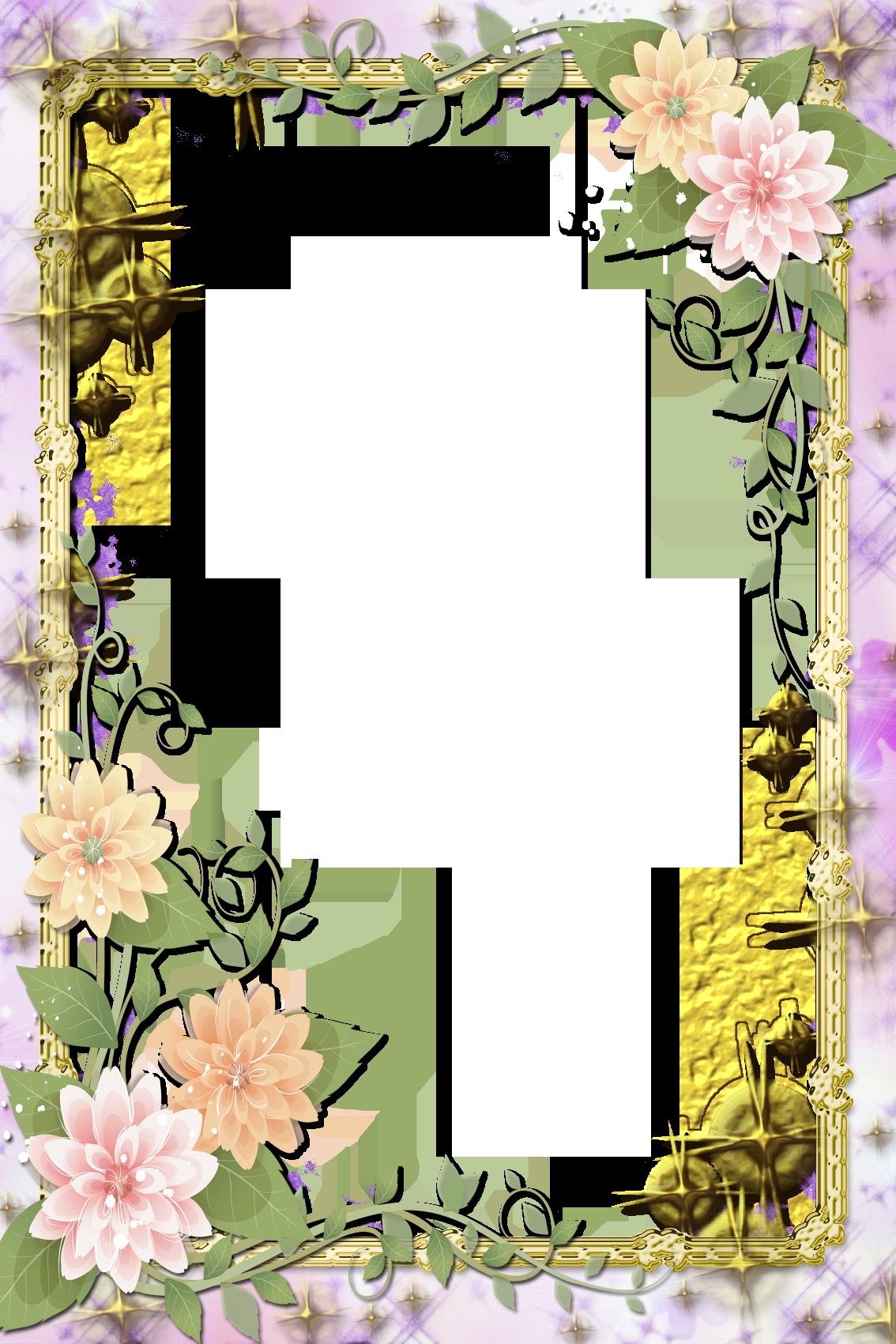 Transparent Flowers Frame Винтажные цветы, Цветочный, Цветы