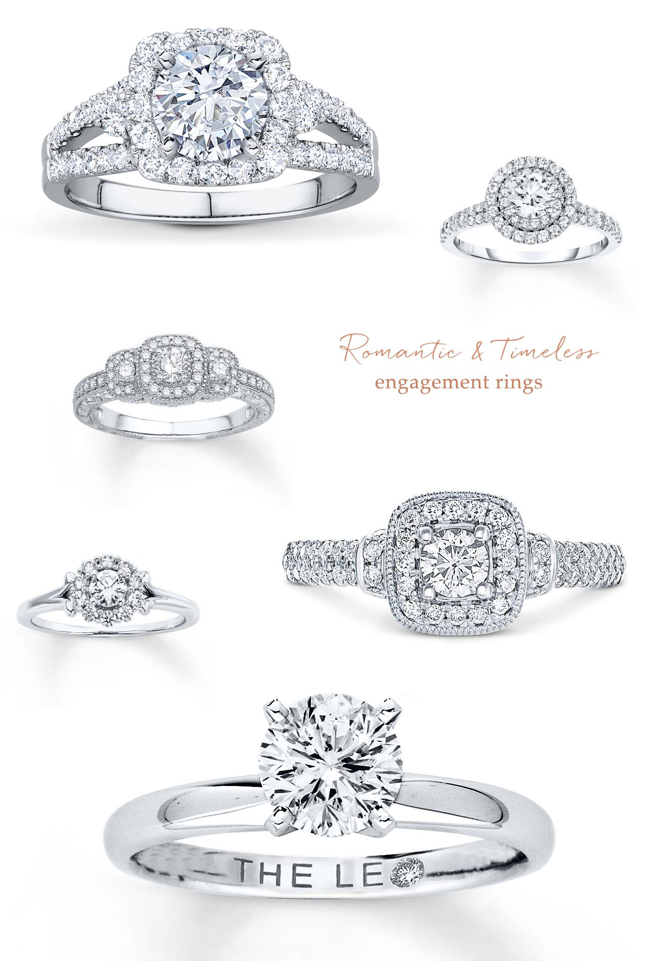 Romantic timeless engagement rings from Jared BrideNBeyond ad