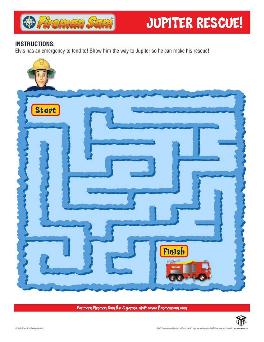 Kids Firefighter Blog: Fireman Sam Craft and Coloring Pages ...