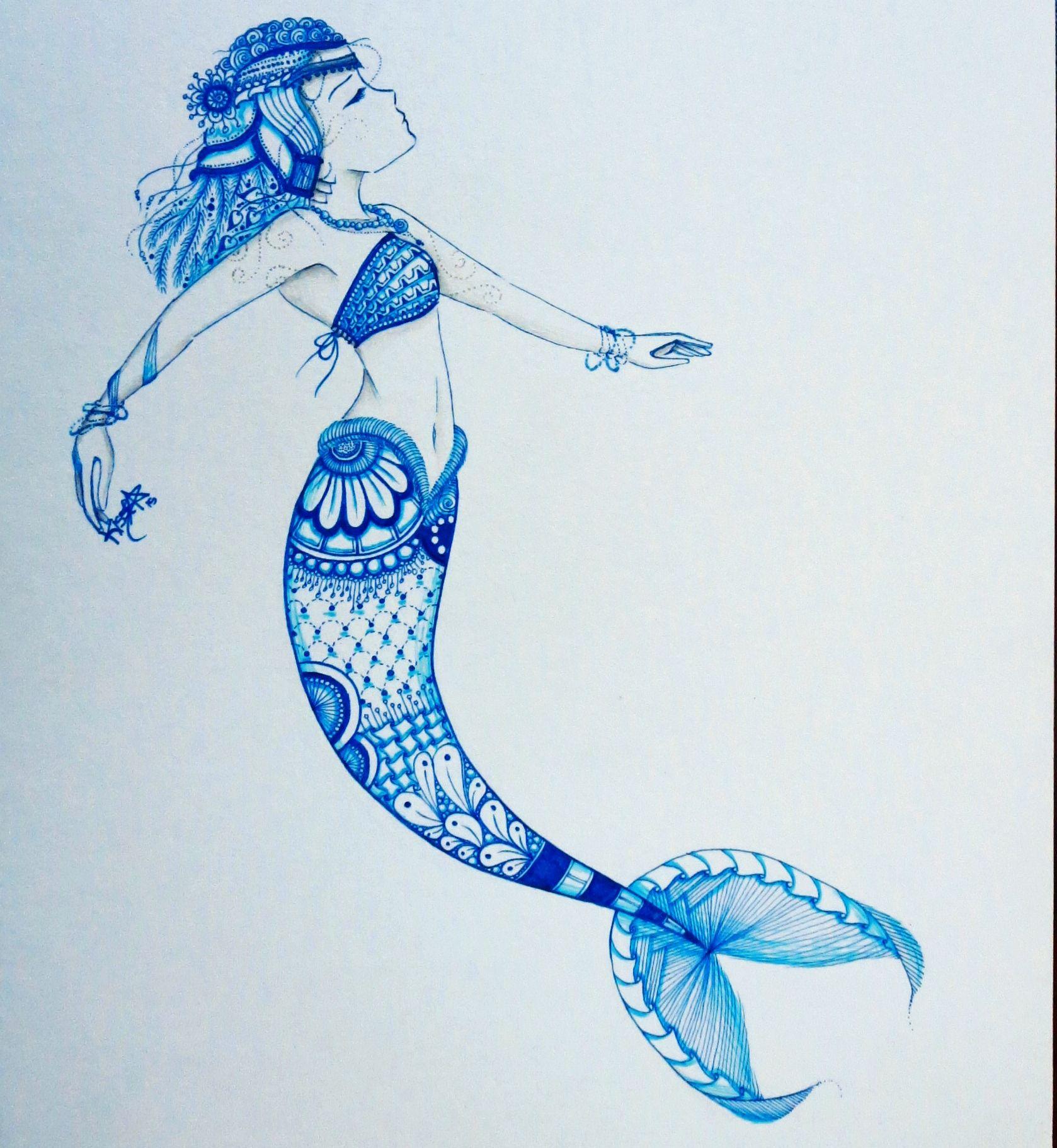 zentangle mermaid | OUR ART | Pinterest