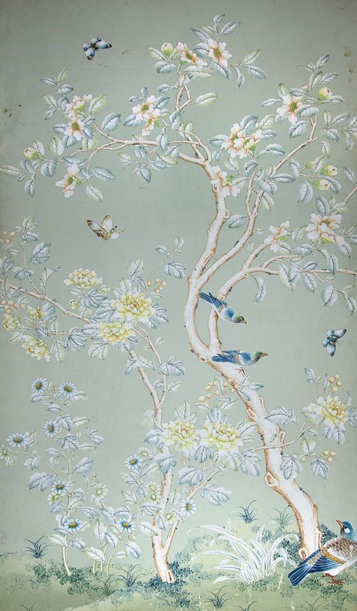 Gracie Wallpaper Gracie Wallpaper Hand Painted Wallpaper