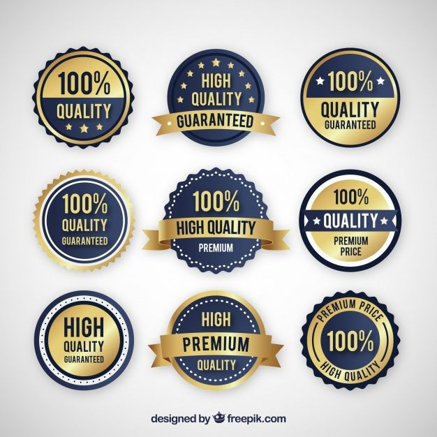 Collection of high quality stickers free vector