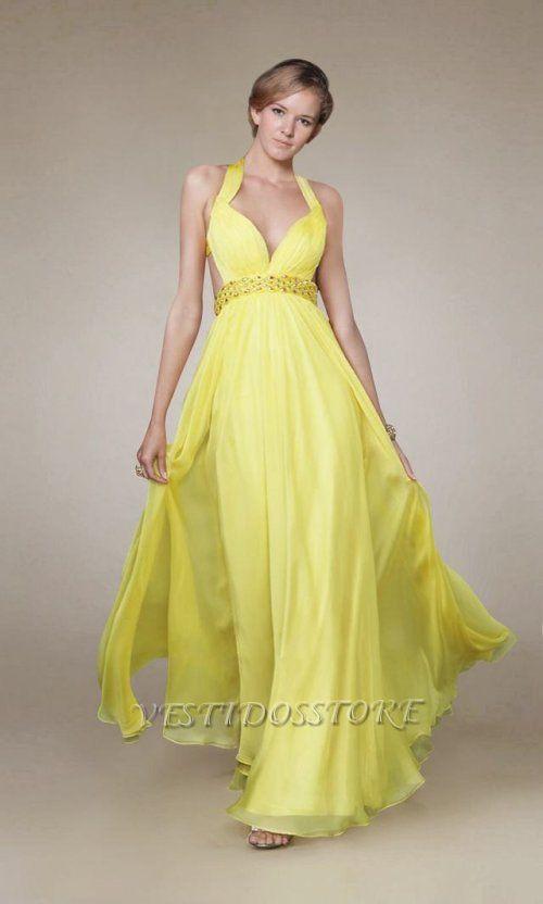 Vestidos graduacion amarillos