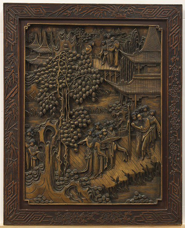 Chinese carved wooden panels wood panel
