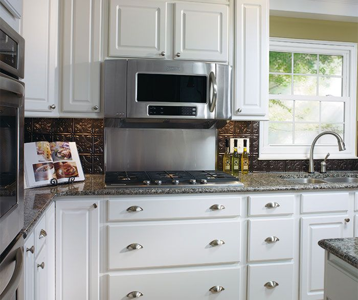 Simple White Kitchen Cabinets: Simple Detail And Easy-care Durability Make These Augusta