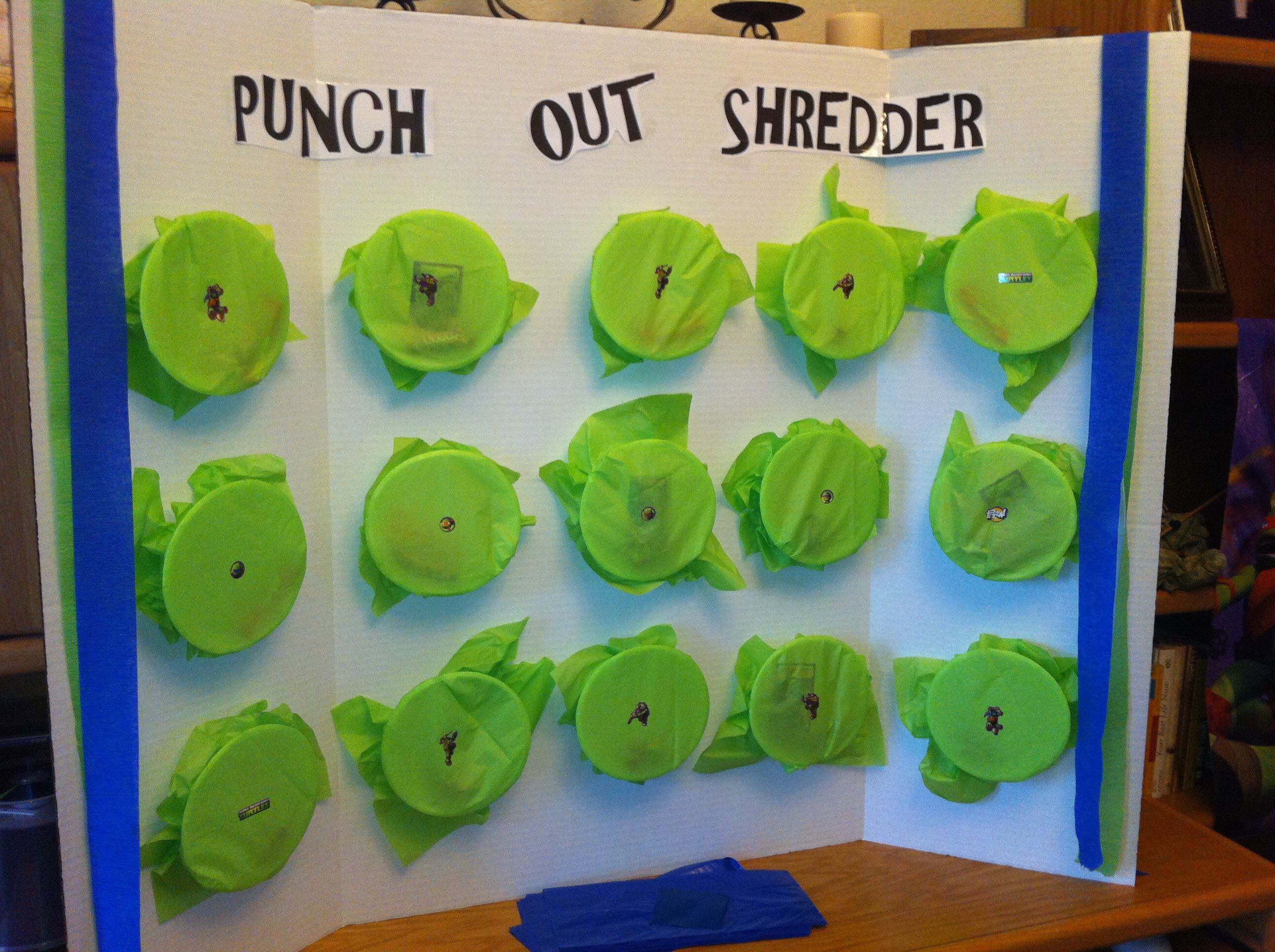 Teenage Mutant Ninja Turtle party game. Punch Out Shredder ...