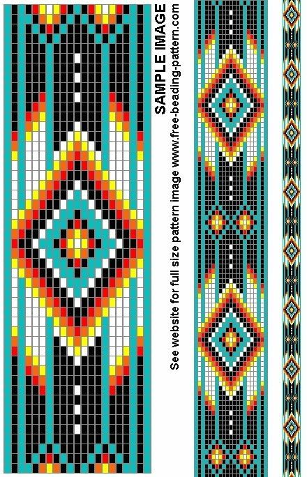 Super Free+Native+American+Beadwork+Patterns | Belt bead pattern for  HU28