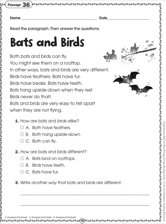 Reading Comprehension Worksheets Printable Worksheets