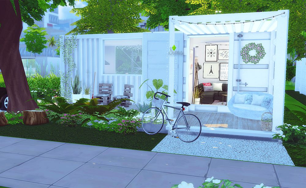 Sims 4 Minimalist Container House Sims Houses Sims Sims 4
