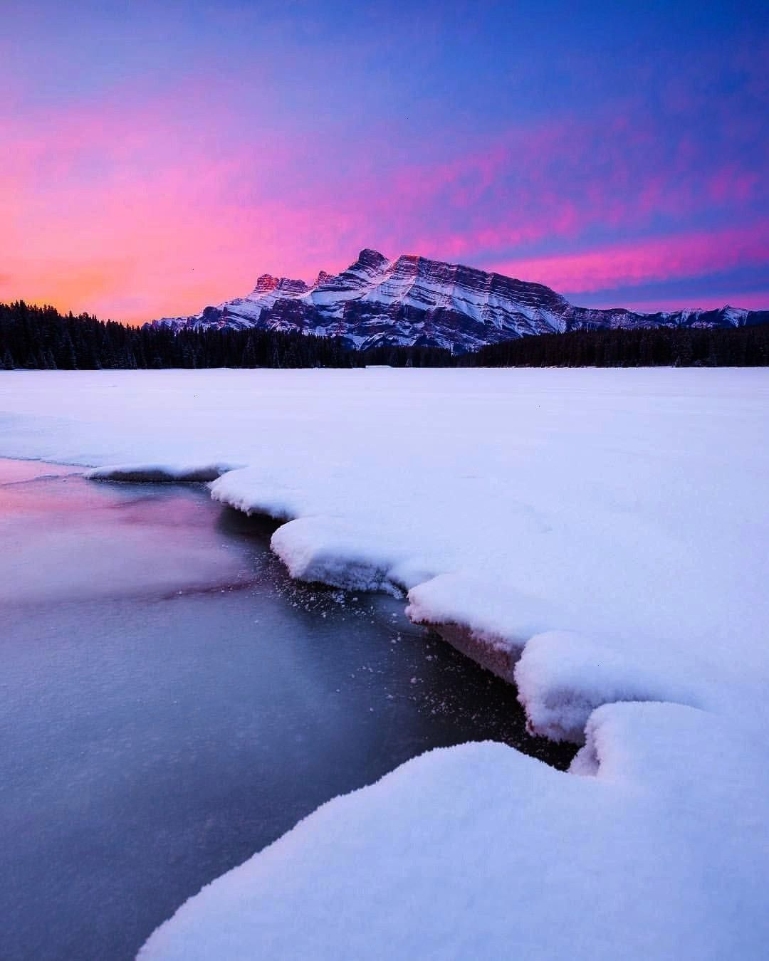 "on Instagram: ""Perfect pink sunrises in Banff! I'm excited to get back to my Can... Callum Snap"