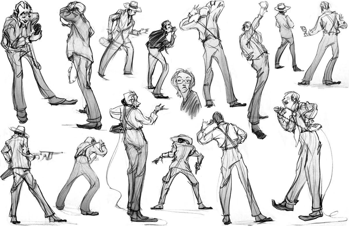 Drawings of People  Gangster Drawings Of Love  Figure and