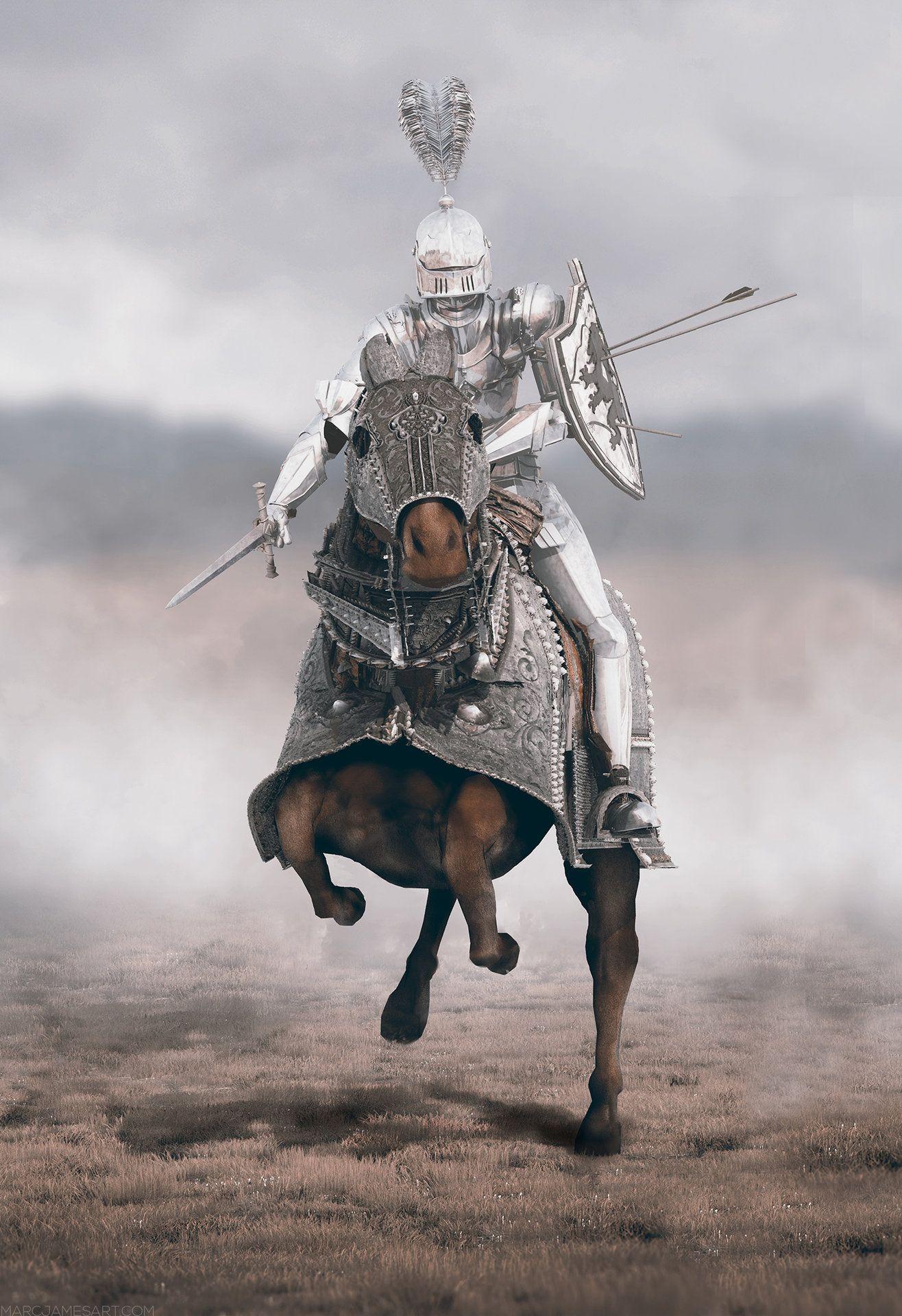 ArtStation - White Knight, Marc James | Knight, Knight art ...