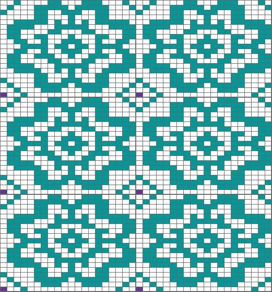 flower chart, could be nice for Kauni effectyarn cardigan | Charts ...