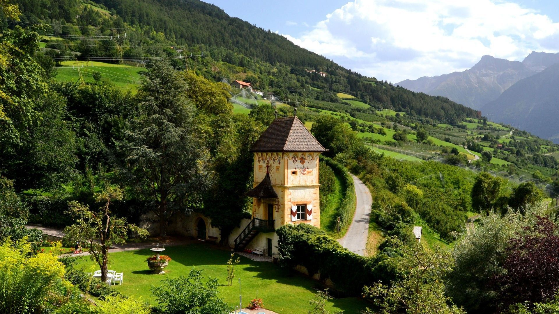 Wonderful Bavarian House In The Mountains 1920x1080 Bavarian