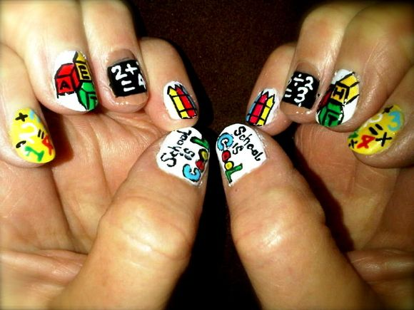 45 Back To School Nail Designs School Nails School Nail Art And