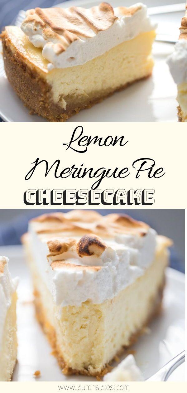 Lemon Meringue Pie Cheesecake | Lauren's Latest