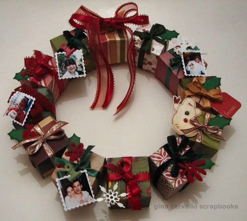 Gina carvallo corona de navidad adornos de navidad - Coronas de navidad ...