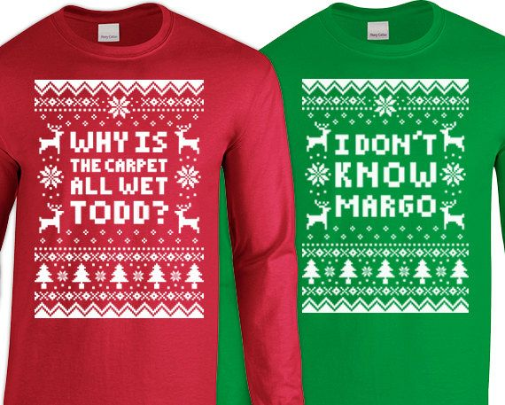 Couples 2 Shirt Christmas Set Why Is The Carpet All By